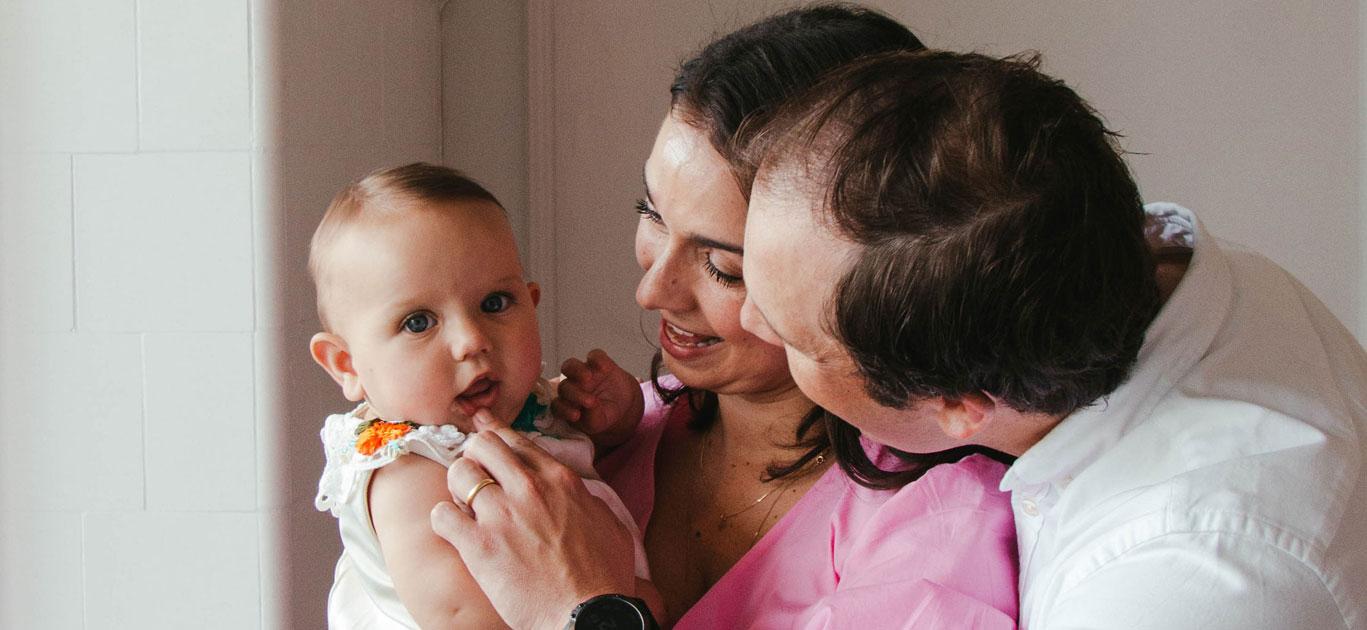 Christina, Johnny & baby Elizabeth